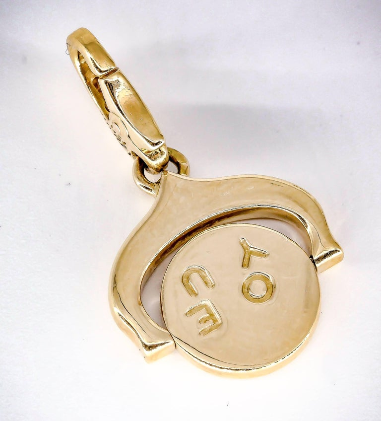 """Cartier """"I Love You"""" Yellow Gold Flip Charm 2"""