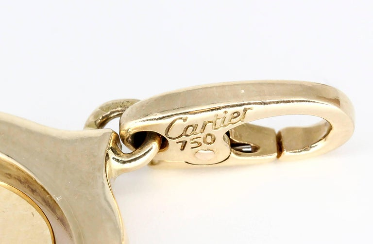 """Cartier """"I Love You"""" Yellow Gold Flip Charm 3"""
