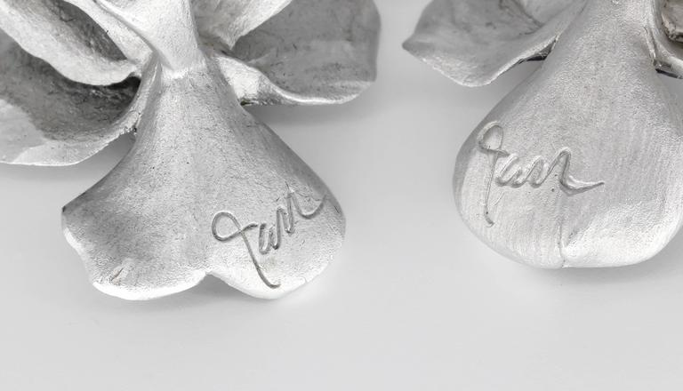 Jar Titanium and Gold Earrings 4