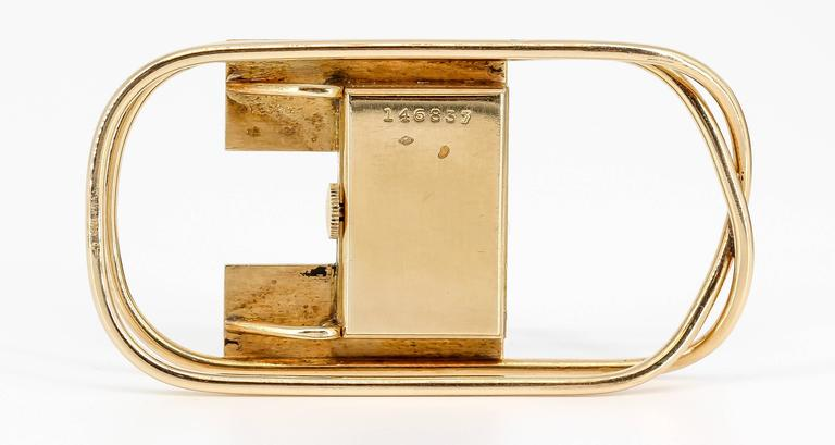 1940s Cartier Yellow Gold Watch Money Clip 2