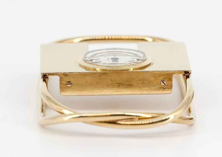 1940s Cartier Yellow Gold Watch Money Clip 4