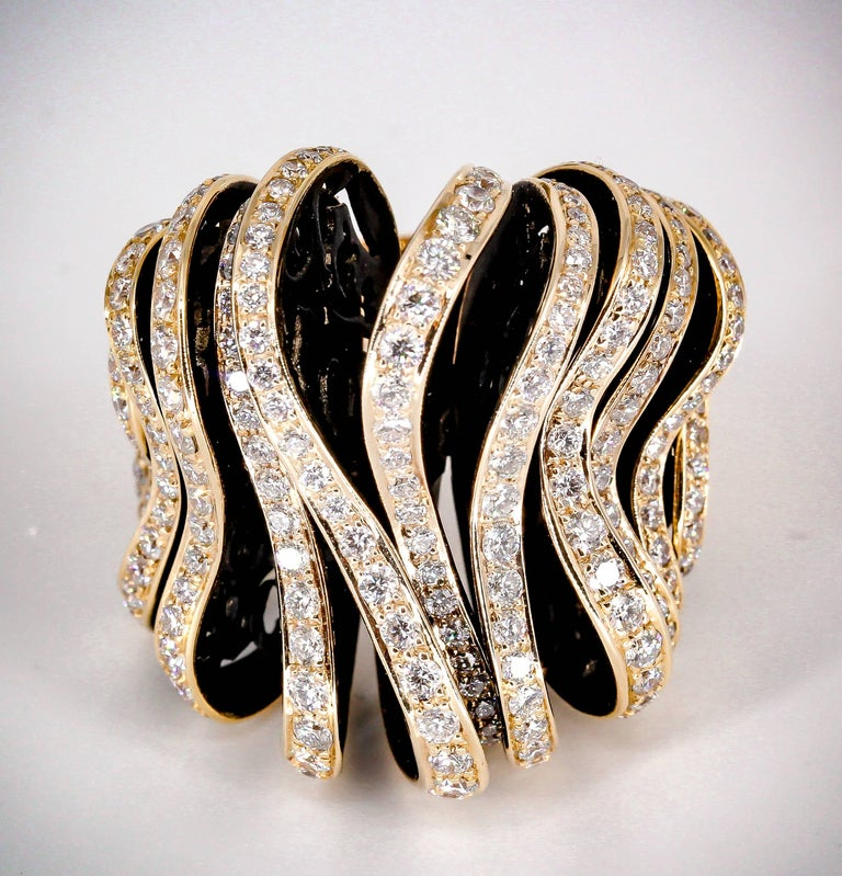 De Grisogono Diamond and Pink Gold Fashion Ring 2