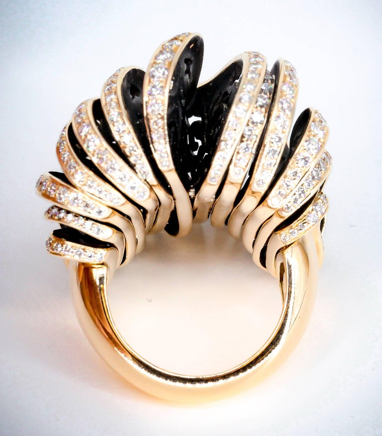 De Grisogono Diamond and Pink Gold Fashion Ring 4
