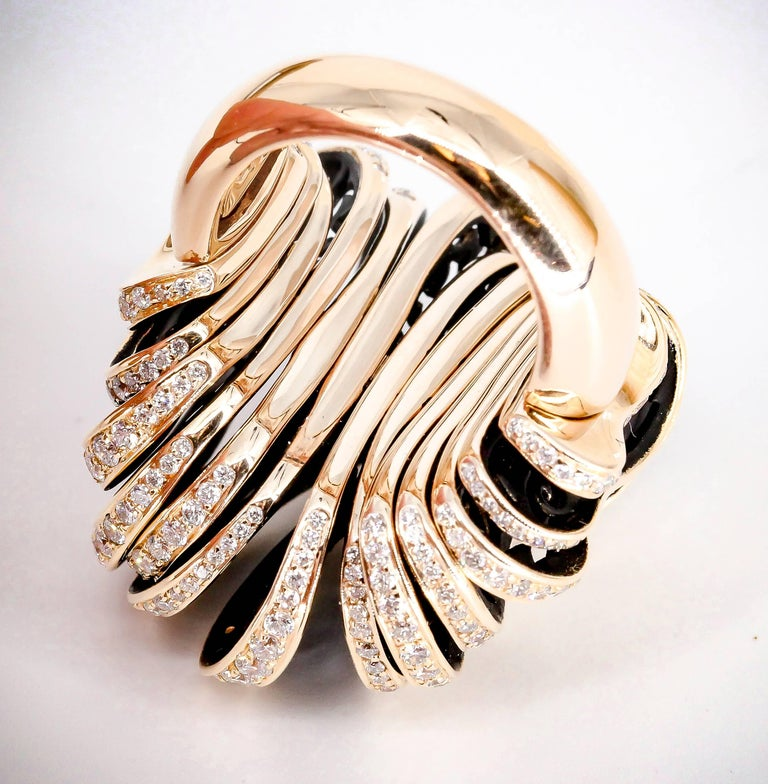 De Grisogono Diamond and Pink Gold Fashion Ring 5