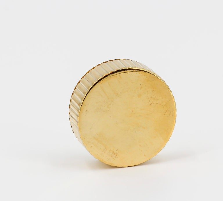 Women's or Men's Cartier London Round Pill Box with Removable Lid For Sale