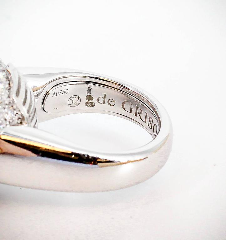 De Grisogono Diamond and White Gold Dome Ring For Sale 3