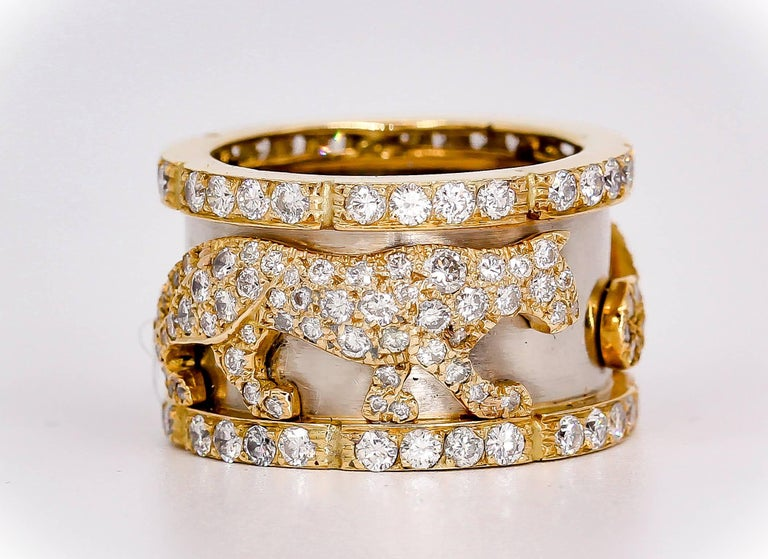 Cartier Panther Diamond and Gold Band 6