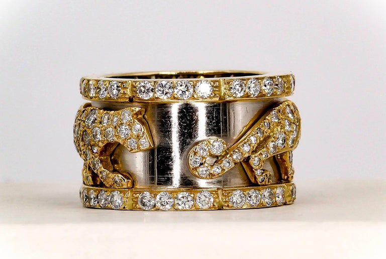 Cartier Panther Diamond and Gold Band 3