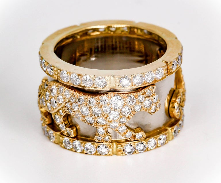 Cartier Panther Diamond and Gold Band 4