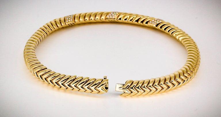 Women's Bulgari Spiga Diamond and Gold Necklace For Sale