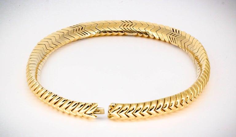 Bulgari Spiga Diamond and Gold Necklace For Sale 1