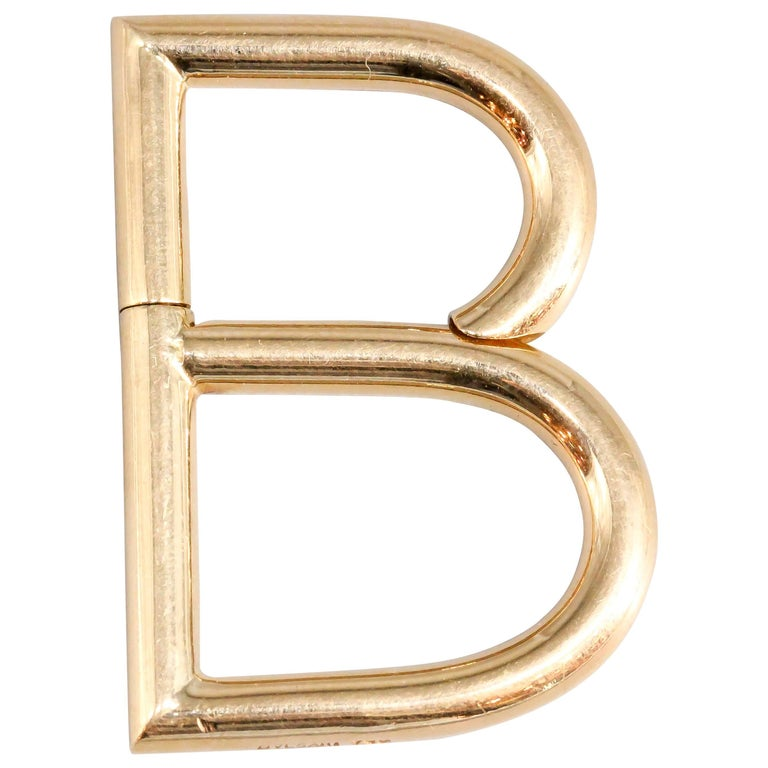 "Bulgari Gold ""B"" Letter Keychain For Sale"