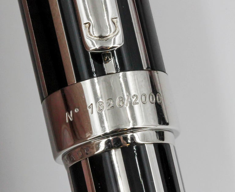 Cartier Limited Edition Fountain Pen Watch For Sale 6