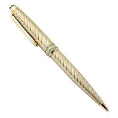 Montblanc Meisterstuck Chevron Solitaire Two-Tone Gold Ballpoint Pen