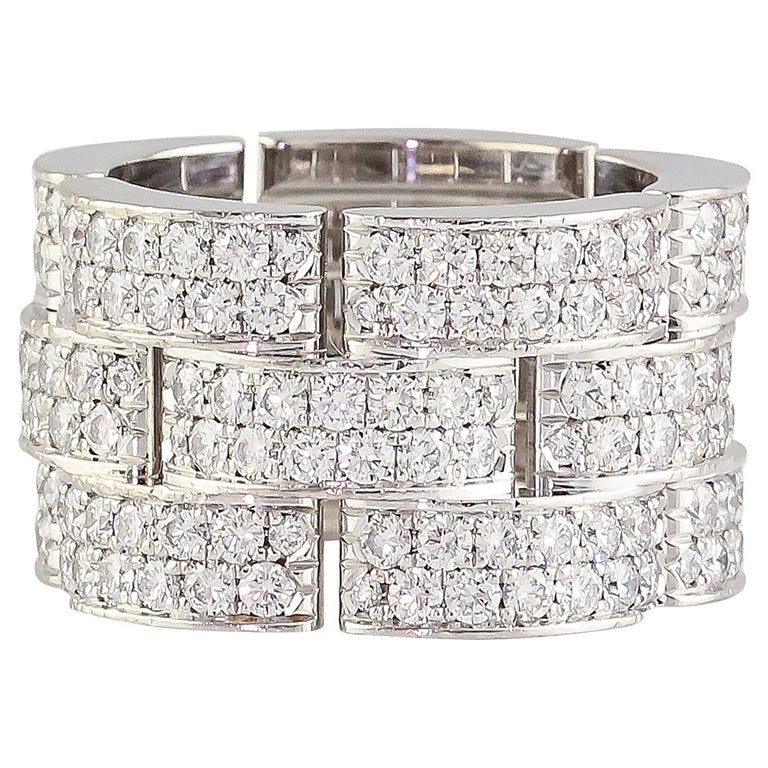 Cartier Maillon Panthere Extra-Large Diamond Gold Band