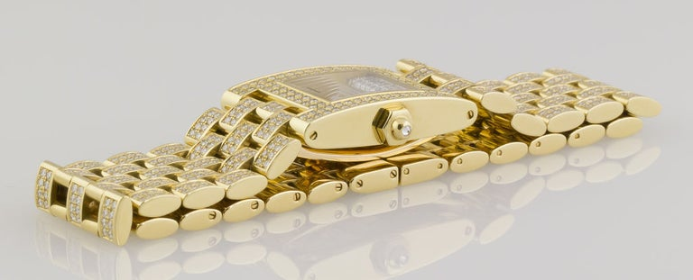 Chaumet Ladies Yellow Gold Diamond Quartz Wristwatch In Excellent Condition For Sale In New York, NY