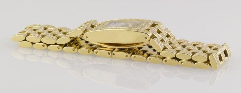 Women's Chaumet Ladies Yellow Gold Diamond Quartz Wristwatch For Sale