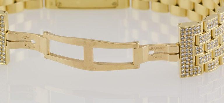 Chaumet Ladies Yellow Gold Diamond Quartz Wristwatch For Sale 2