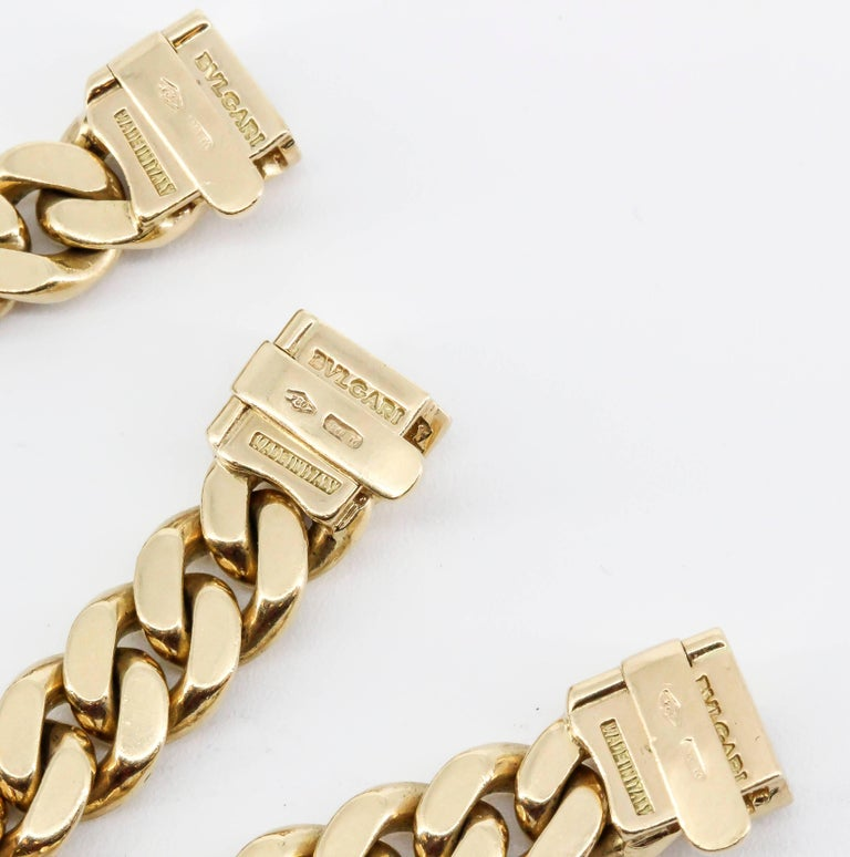 BULGARI MONETE Ancient Coin 18K Yellow Gold Link Necklace Bracelet Combination For Sale 2