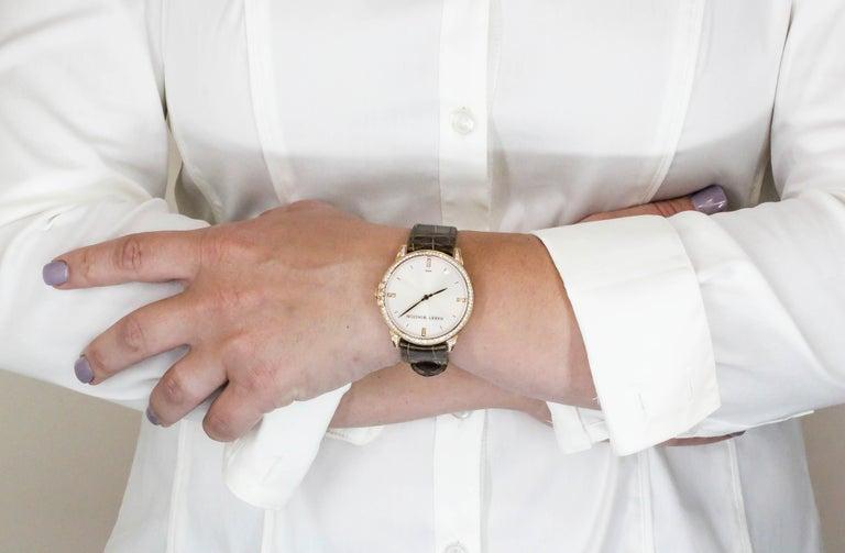Harry Winston Rose Gold Diamond Midnight Quartz Wristwatch For Sale 4