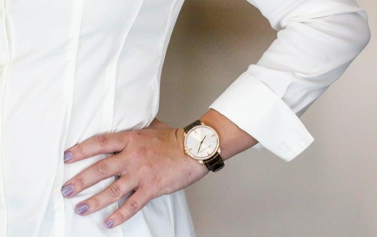 Harry Winston Rose Gold Diamond Midnight Quartz Wristwatch For Sale 5