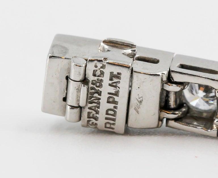 Tiffany & Co. Art Deco Diamond Platinum Tennis Bracelet For Sale 2