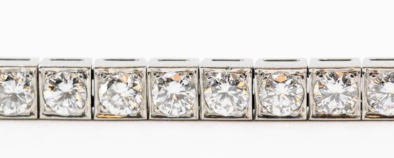 Tiffany & Co. Art Deco Diamond Platinum Tennis Bracelet For Sale 3