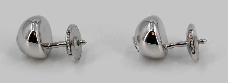 Cartier Diamond and White Gold Stud Earrings In Excellent Condition For Sale In New York, NY