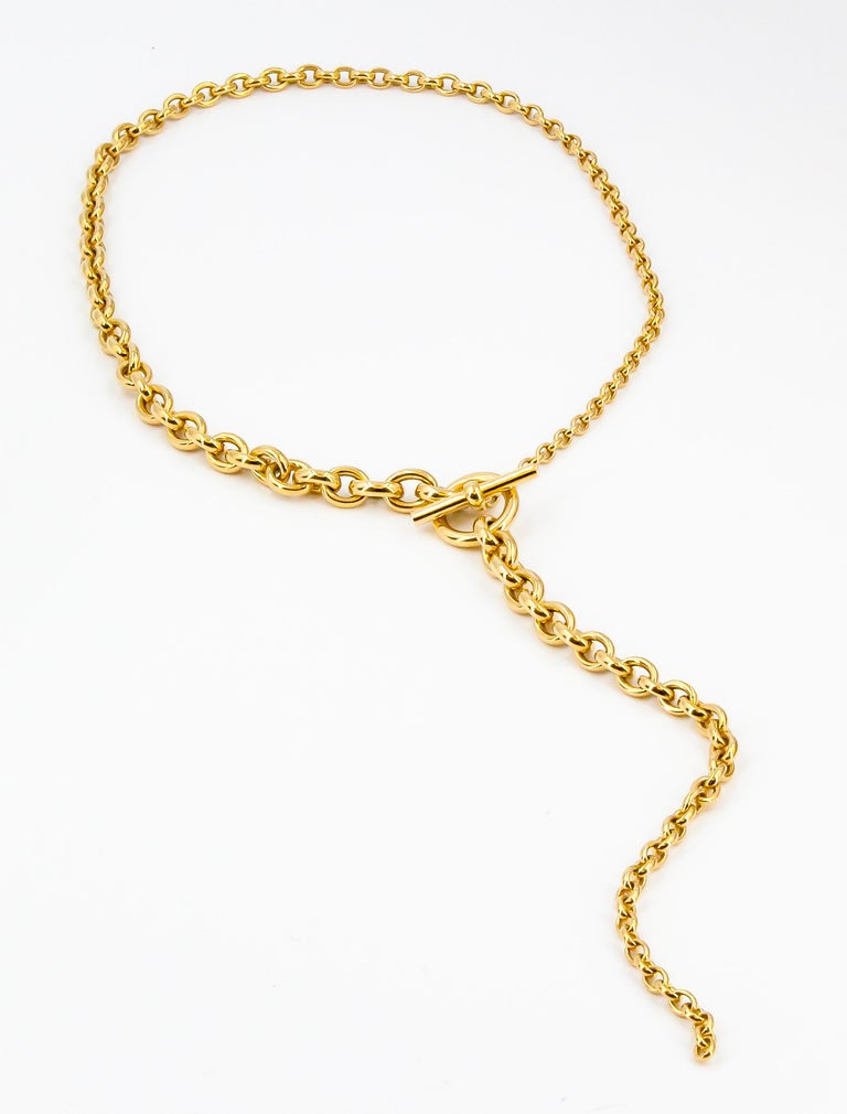 Fine  18K yellow gold link necklace from the