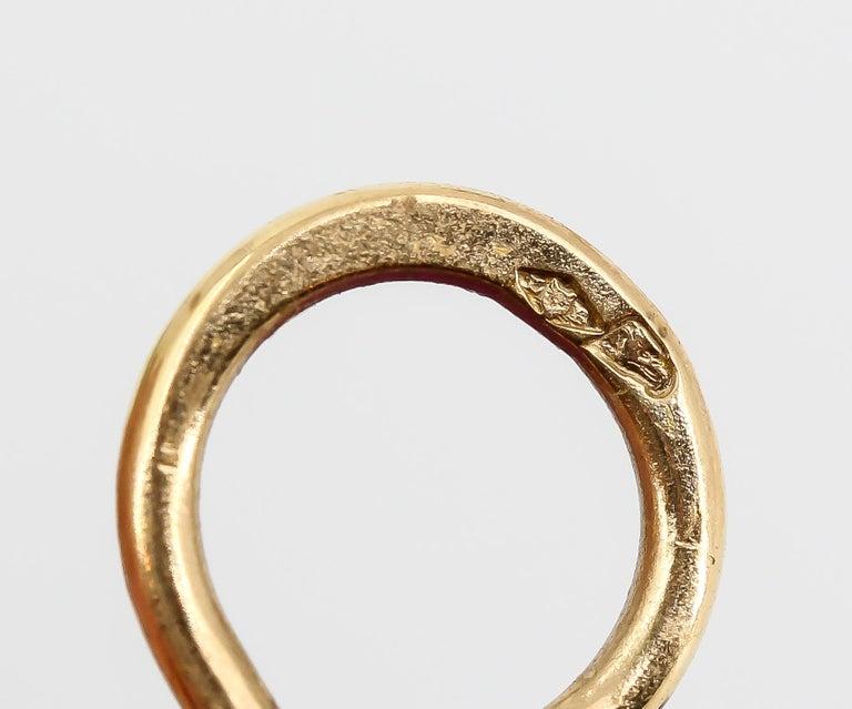 JAR Morning Glory Aluminum and 18 Karat Gold Flower Earrings For Sale 1