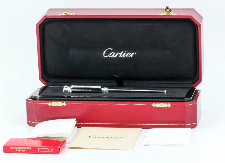 Cartier Limited Edition Fountain Pen Watch For Sale 7