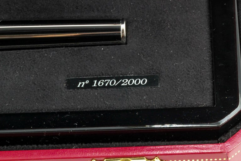 Cartier Limited Edition Fountain Pen Watch For Sale 8