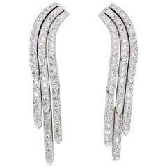 Cartier Diamond and Platinum Drop Earrings