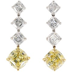 Important Tiffany & Co. Legacy Fancy Yellow Diamond Drop Earrings