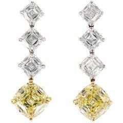Legacy Fancy Yellow Diamond Drop Earrings