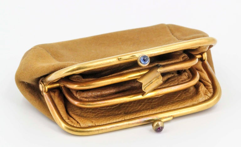 Sapphire, Ruby and Gold Coin Purse For Sale 3