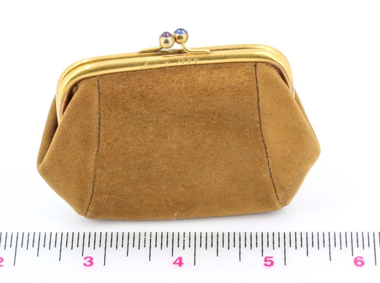 Sapphire, Ruby and Gold Coin Purse For Sale 5