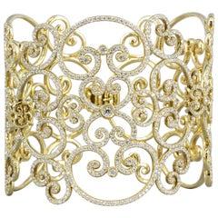 Tiffany & Co. Paloma Picasso Goldoni Diamond Gold Wide Bracelet