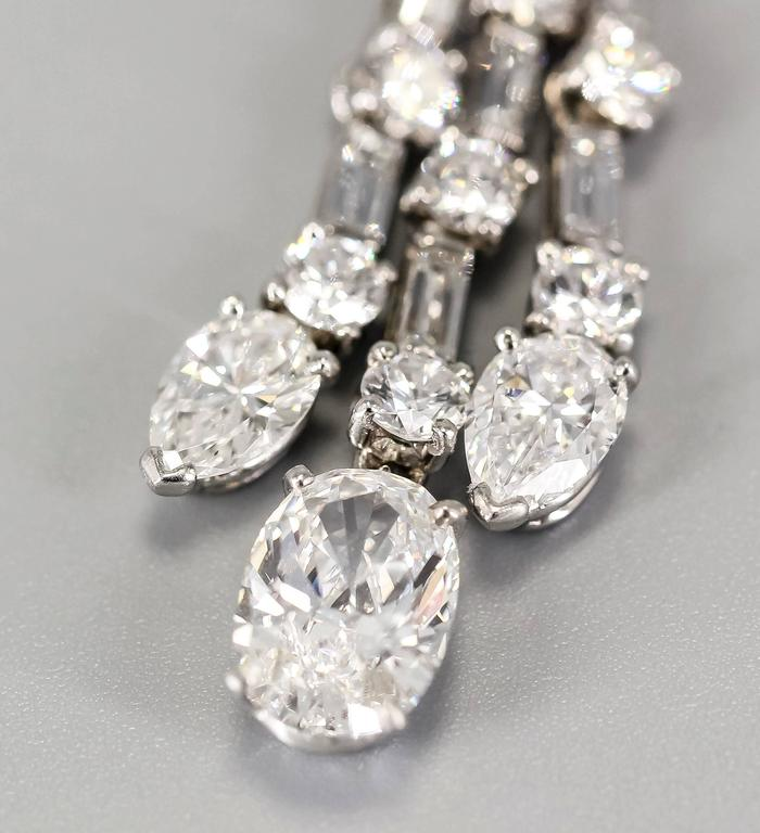 Harry Winston Diamond Platinum Ear Pendants circa 1960s 4