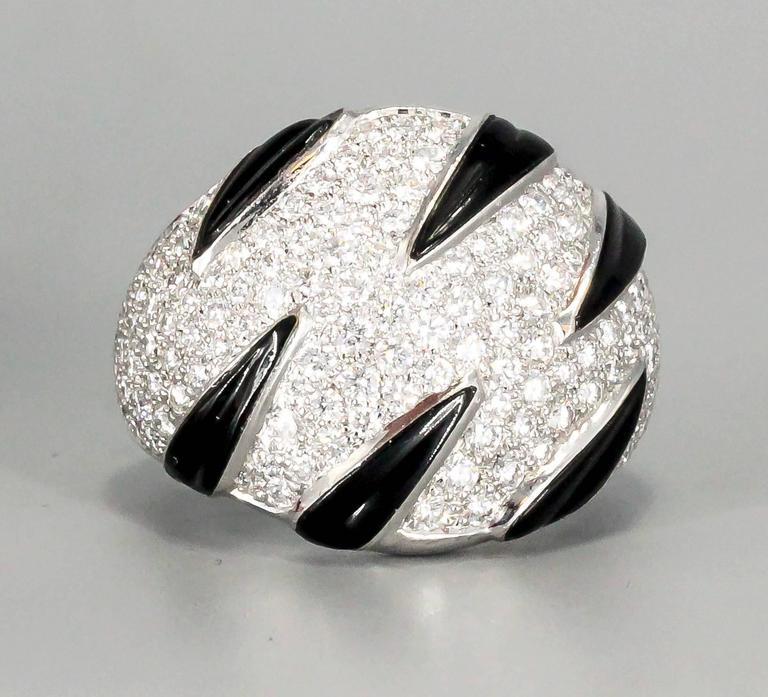 Cartier Onyx Diamond Gold Ring 2