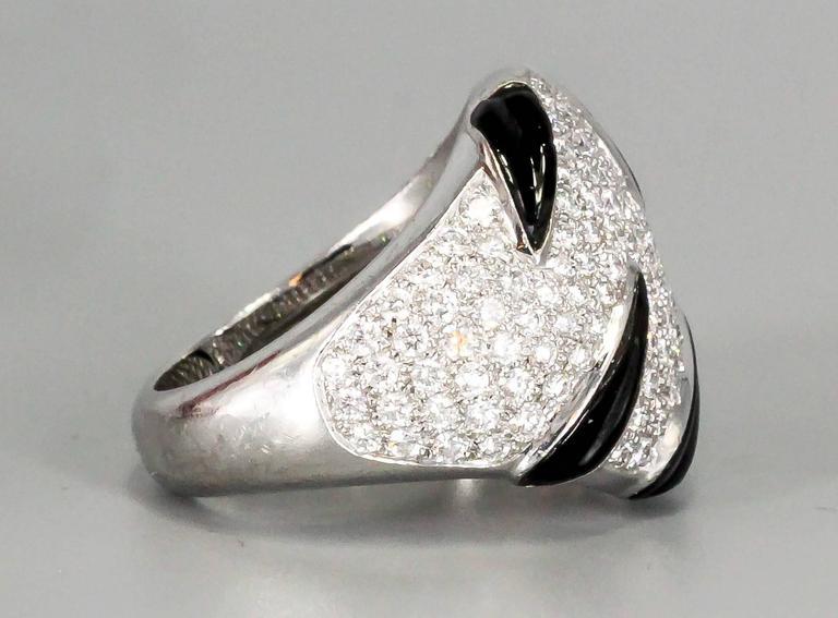 Cartier Onyx Diamond Gold Ring 3