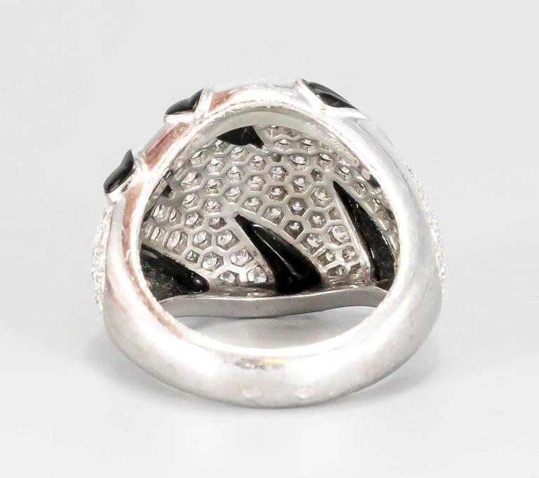 Cartier Onyx Diamond Gold Ring 4
