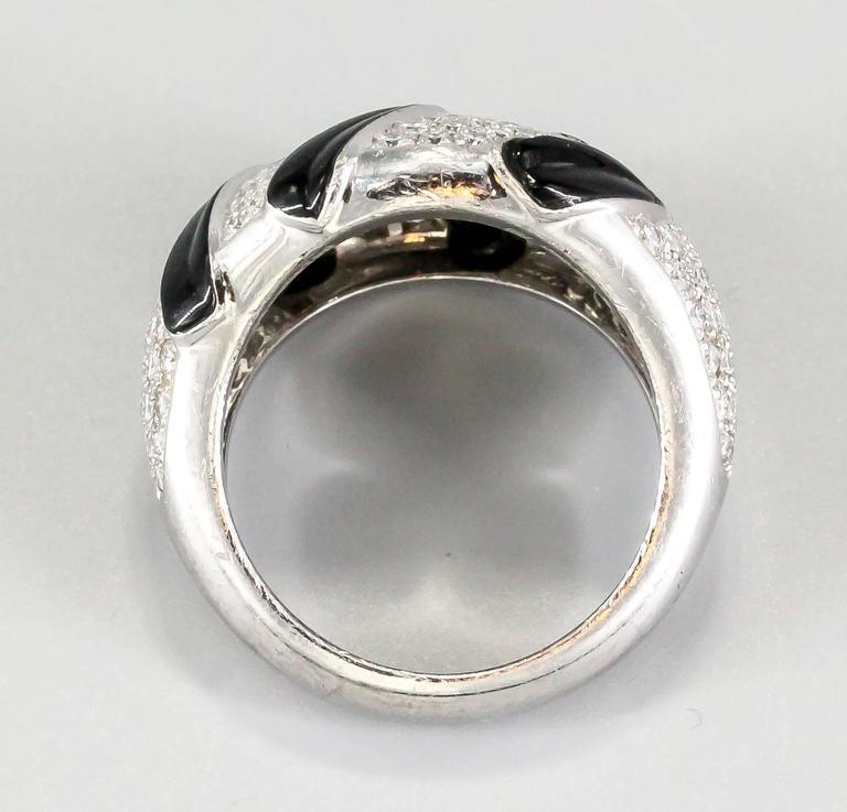Cartier Onyx Diamond Gold Ring 5