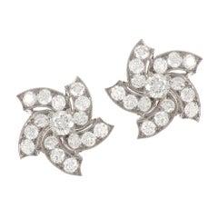 1.60 Carat Brilliant Diamonds Stud Earrings
