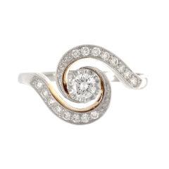 0.17 Carat Diamond Edwardian Engagement Ring
