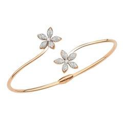 Bee Goddess Rose Gold White Diamond Apple Seed Bracelet