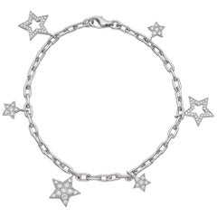 Tiffany & Co. Platinum Ladies Star Collection Diamond Bracelet with Receipt