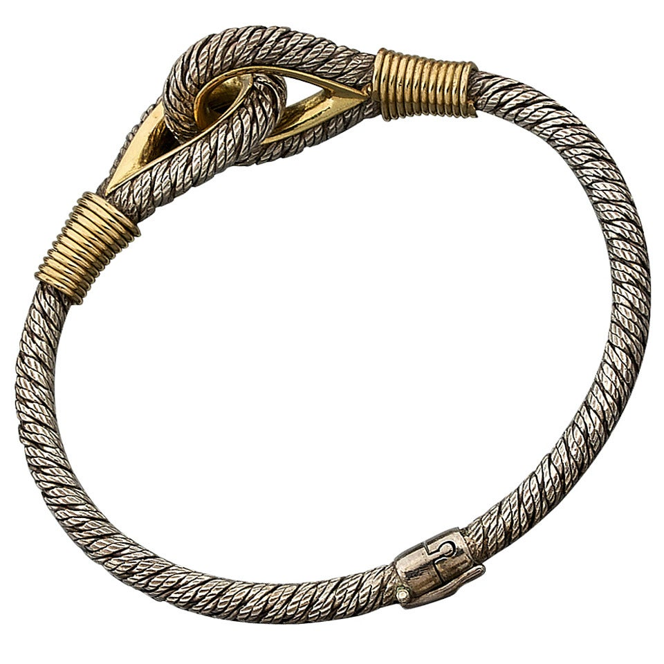 Gold And Silver Bracelets: Fred Silver And Gold Nautical Bracelet At 1stdibs