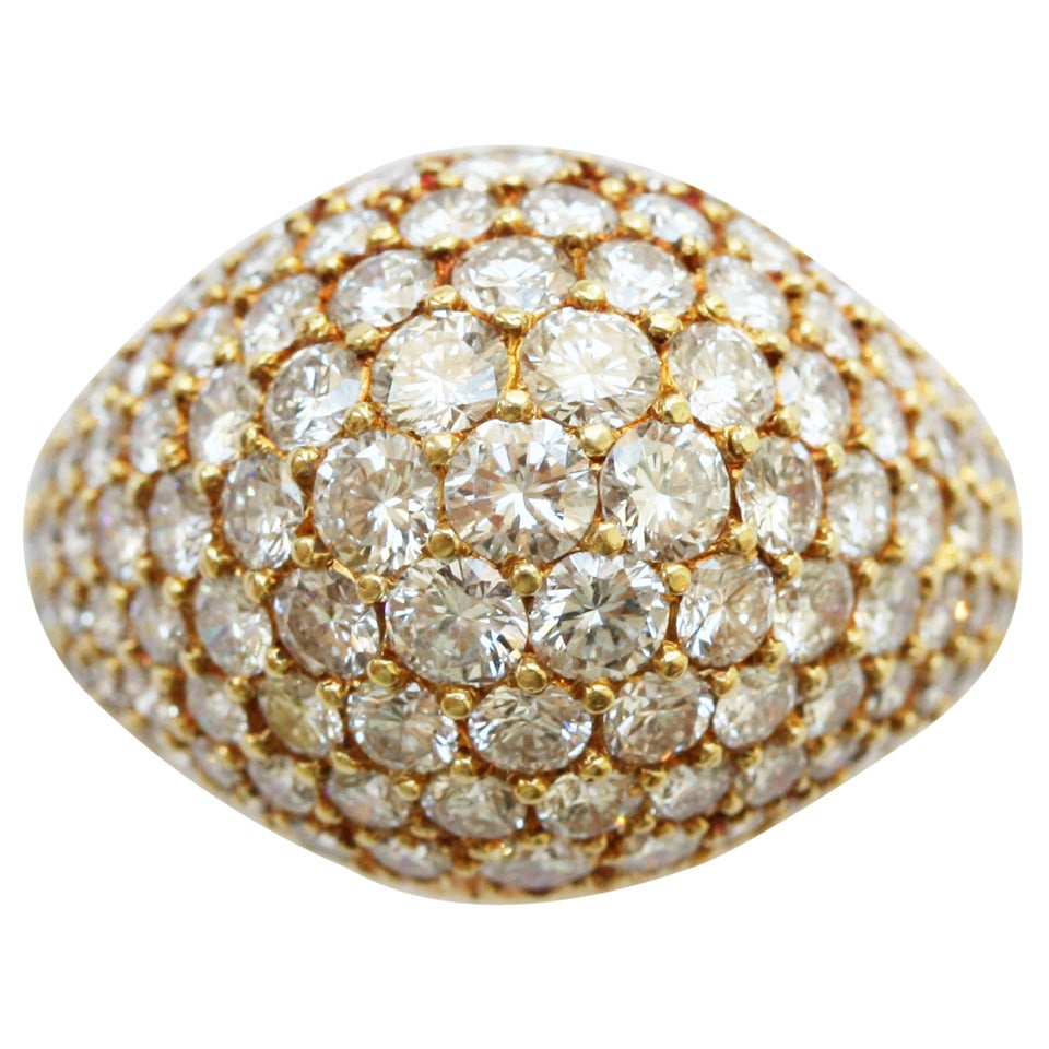 Cartier Diamond Gold Pave Ring