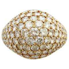 Cartier Diamond Gold Pave Ring